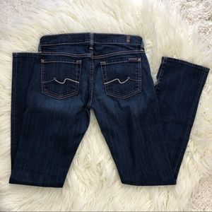 7 For All Mankind Jeans - 7 FOR ALL MANKIND dark straight leg jeans 27